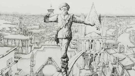 Érik Desmazières - Le Funambule  (detail) © Erik Desmazières