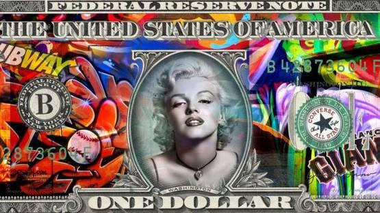 Aaron - Dollar Marilyn (detail), image courtesy of Samhart Gallery