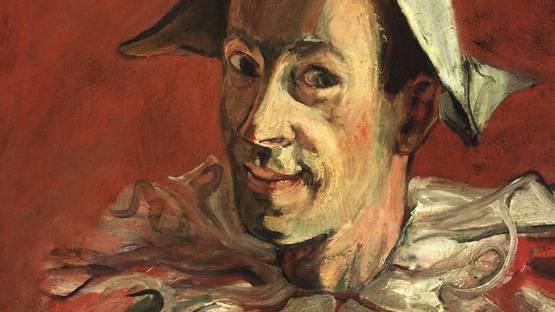 Abraham Mintchine - Portrait of the Artist as a Harlequin (detail), 1931, photo via wikimedia