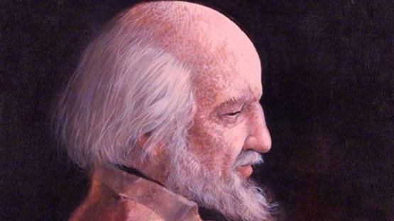 Adrian George - Sir William Gerald Golding (detail), photo credits National Portrait Gallery in London