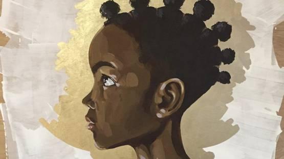 Adrienne Brown-David - Gilded, 2018 (detail)