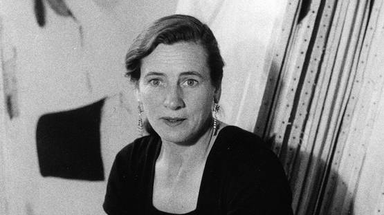 Agnes Martin - portrait, photo credits Mildred Tolbert-The Harwood Museum of Art