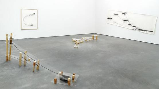 Al Taylor - Pet Stains, Puddles, and Full Gospel Neckless, Installation view, 2015 - image courtesy of David Zwirner gallery