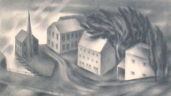 Albert Heckman - Wind and Rain, 1938 (detail)