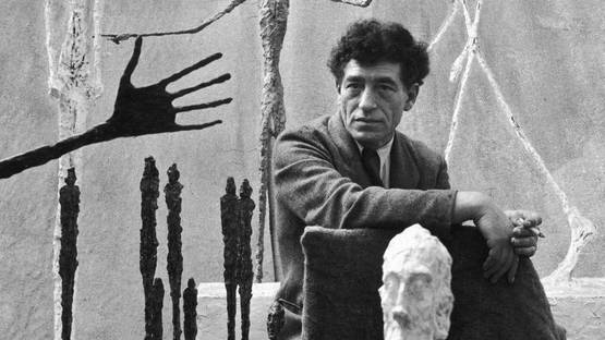 Alberto Giacometti - Photo of the artist in his studio - Image via dailyartfixx