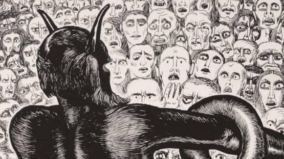 Alberto Martini - Detail of illustrations from Dante's Divine Comedy, 1937, photo via monsterbrains blogspot