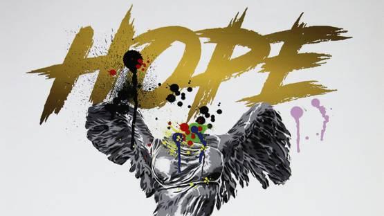 Alessio-B - Hope (White), 2018 (detail)