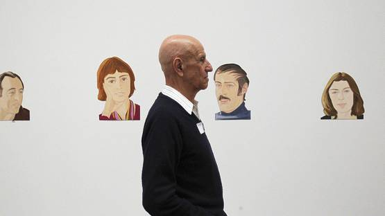 Alex Katz, photo by Suzanne Kreiter for The Boston Globe