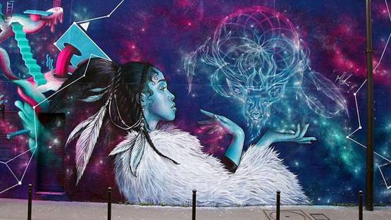 Alex - Tribute to FKA Twigs, Paris, France, collective wall - detail by Alex