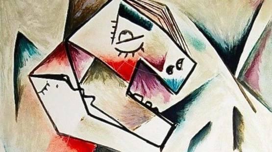 Alexandra Nechita - Geometric Look, 1999 (detail)