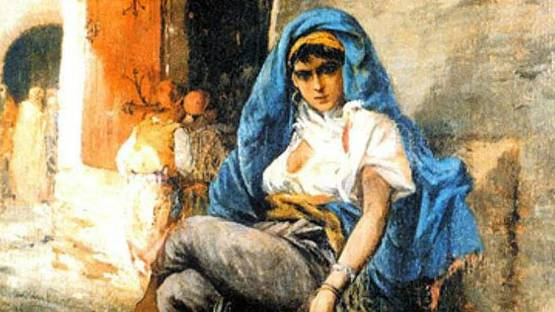 Alfred Chataud - Femmes dans une rue d'Alger (detail), photo via fr pinterest com