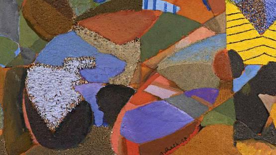 Alfred Reth - Composition (detail), 1952, photo via galeriefleury