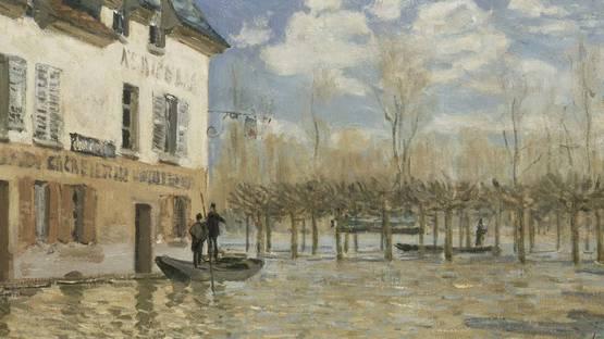 Alfred Sisley - Flood at Port-Marly, 1876 (detail)
