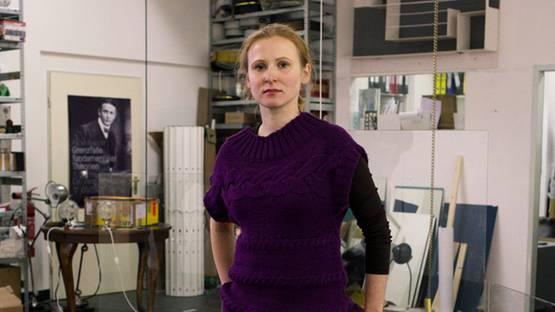 Alicja Kwade in her Studio in Kreuzberg - photo via Stil In Berlin