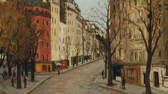 Alphonse Léon Quizet - Place de Rigolies (detail), photo via christies