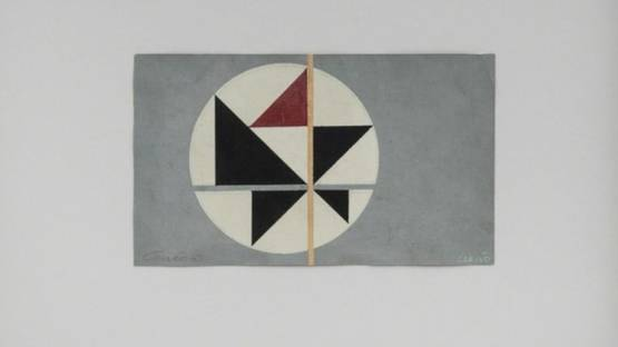 Aluisio Carvao - Tema Triangular 5, 1950s (detail)