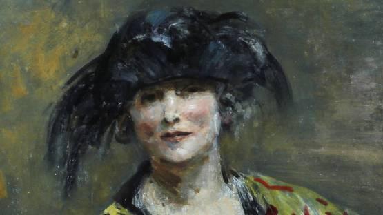 Ambrose McEvoy - Portrait of Madame Errasuriz (detail), image via alchetroncom