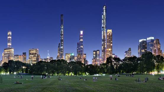 Andrew Prokos - Sheep Meadow and Midtown Skyline at Dusk, Central Park, 2020 (detail)