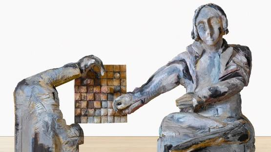 Anne Chu - A Chess Player (detail), circa 2000 - image via sothebyscom