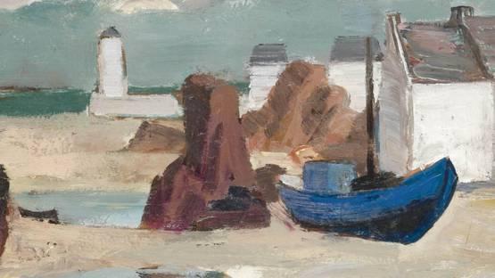 Anne Estelle Rice - Low Tide, Brittany (detail), image via sothebyscom