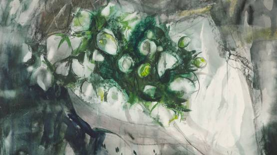 Anne Redpath - Lenten Roses (detail), 1960, photo credits of The Estate of Anne Redpath