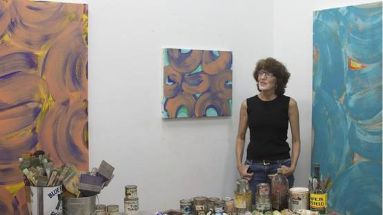 Anne Russinof in her studio