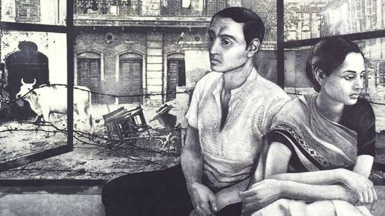 Anupam Sud - Dialogue (detail), 2015 - image via projectartwormcom