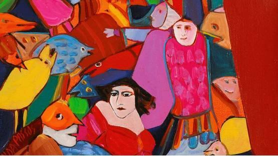 Armanda Passos - detail of an artwork, photo via artodyssey