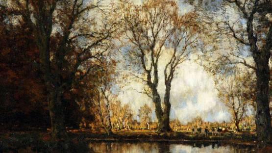Arnold Marc Gorter - An Autumn Landscape (detail)