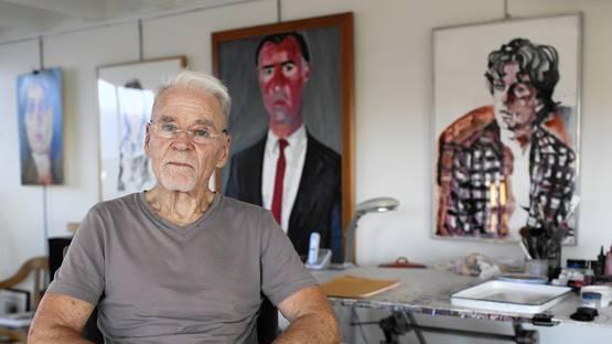 Artist Don Bachardy in his Santa Monica studio - image courtesy of LA Times