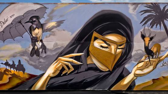 Asylm - mural in Dubai - 2014 - photo credits - artist