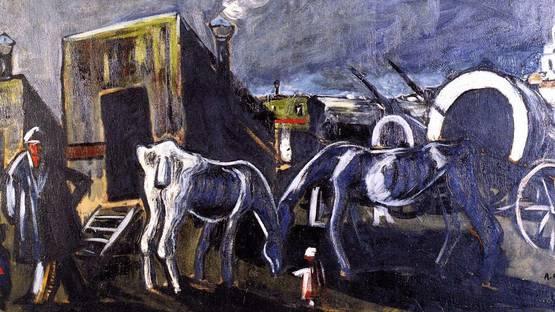 Auguste Chabaud - Gypsies at Saint-Maries (detail), image via wahooartcom
