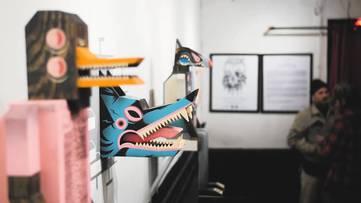 Baghead - Pieces on display - Image via vimeocdncom