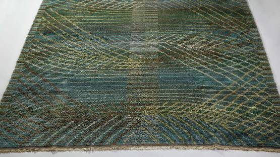 Barbro Nilsson - Green Marina rug (detail) designed for MMF, photo via modernity se