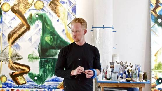 Barnaby Furnas - in his Chelsea studio