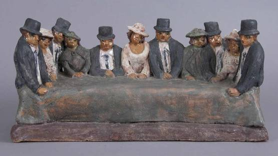Beatrice Wood - Men with their Wives, 1996
