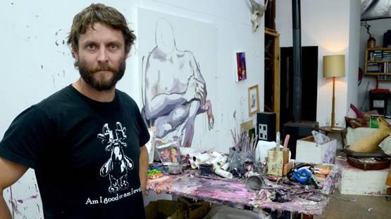 Ben Quilty - Photo of the artist - Image via janmurphygallerycomau