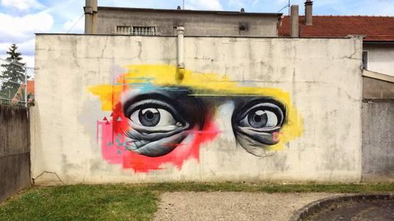 Ben Slow - Mural in Vitry, France