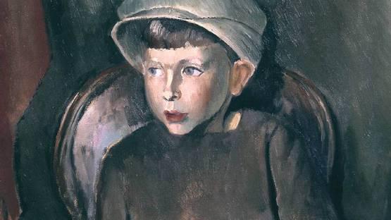 Bernard Meninsky - detail from  the Portrait of a Boy, 1923 © The estate of Bernard Meninsky