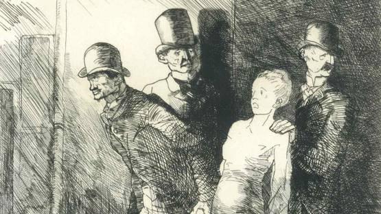 Bernard Naudin - L'arrestation, 1910 (detail)