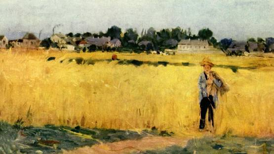 Berthe Morisot - Grain Field (detail), 1875, photo via arthistoryarchive