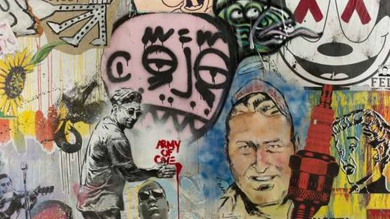 Biirdie Bird and other artists - JEF CAMPION  ARMY OF ONE  TRIBUTE (detail), 2015