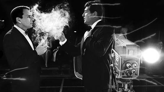 Bob Willoughby - Frank Sinatra and Dean Martin Smoke (detail), photo credits the Estate of Bob Willoughby