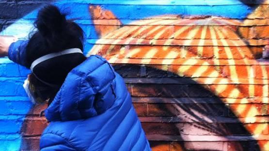 Bon - work in progress - image courtesy of GraffitiStreet Gallery