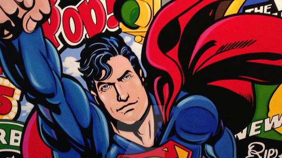 Boudro - Superman (detail), image courtesy of the artist