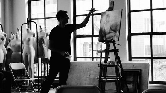 Britt Snyder - Portrait of the artist at work