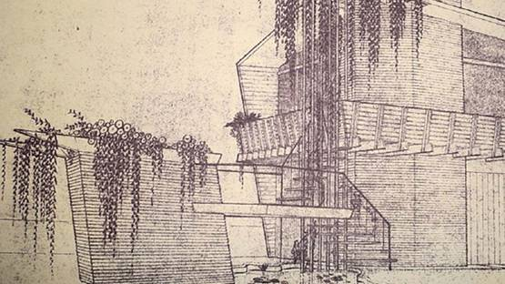 Bruce Goff - Architectural Drawing