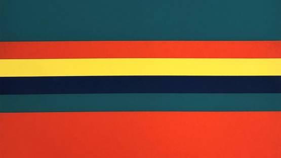 Camille Graeser - Compositions Vert et bande, 1971 (detail)