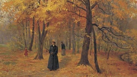 Carl Christian Edvard Otto Carlsen - A Forest Walk In Autumn, 1892