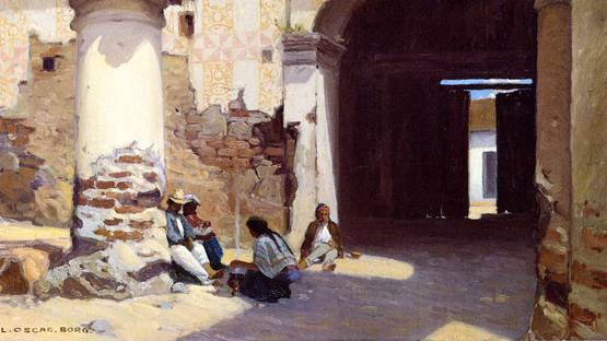 Carl Oscar Borg - Open Door at the Governors Palace (detail)